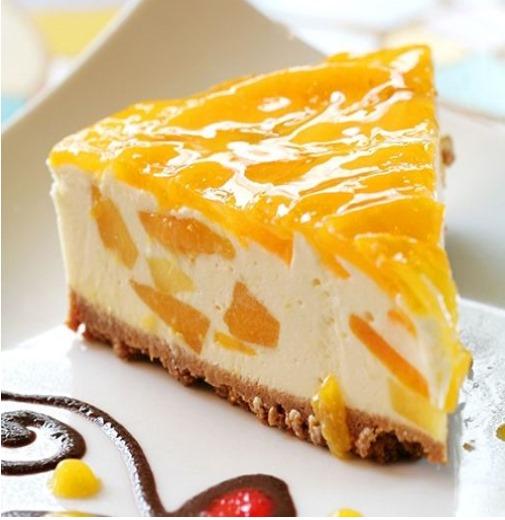 receta Tarta de queso y mango