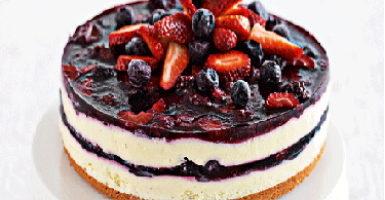 Receta de tarta de queso con moras
