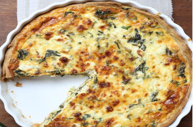Receta de tarta acelga y queso