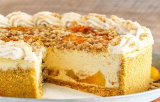 Receta de tarta de duraznos con crema