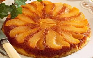 tarta de pera invertida o tarta tatin