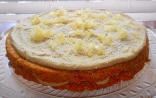 Receta de tarta de zanahoria y coco