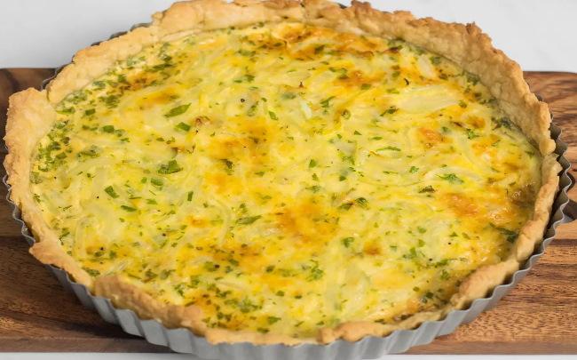 Receta de tarta de cebolla y queso