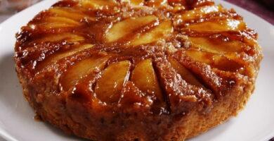 Receta de torta de manzana invertida
