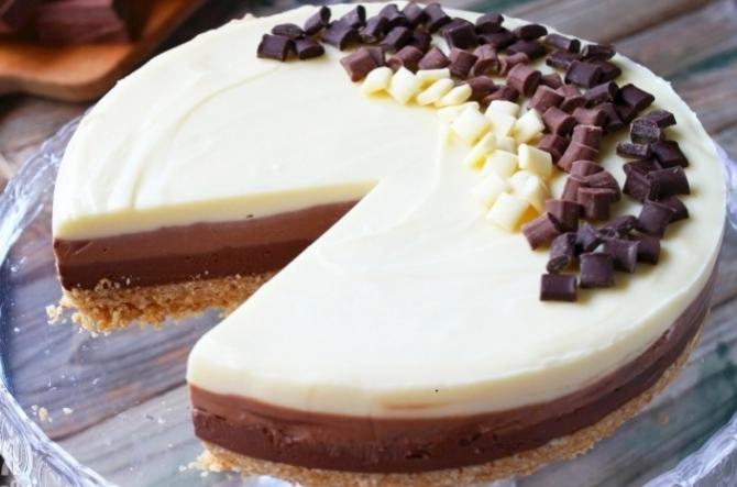 Receta tarta de tres chocolates
